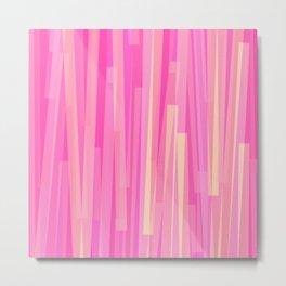 Geometric Pink Yellow Painting Metal Print