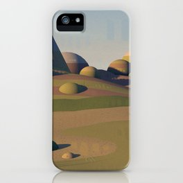 Geometric Landscape iPhone Case