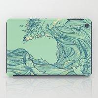 huebucket iPad Cases featuring Ocean Breath by Huebucket