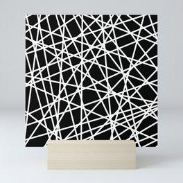 Lazer Dance B&W 1 Mini Art Print