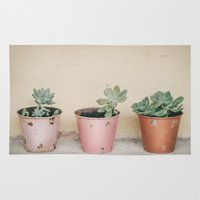 succulents Area & Throw Rugs featuring Succulents... by With Love & Lace...
