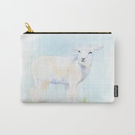 Lamb in the Pasture Watercolor Carry-All Pouch