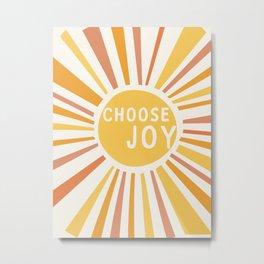 Choose Joy Metal Print