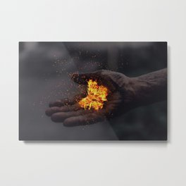 FLAME BUTTERFLY Metal Print