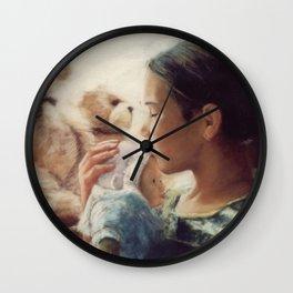 Lullaby at the window / Berceuse à la fenêtre Wall Clock