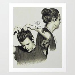 Harry Styles, Man Bun Art Print