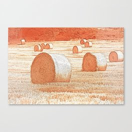 Straw bale Canvas Print