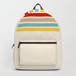 Brazilian Retro Stripes Backpack