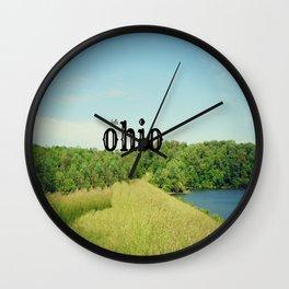Hello Ohio Wall Clock