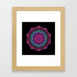 Project 208 | Colorful Mandala on Black Framed Art Print
