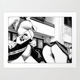 asc 923 - Les dimanches en banlieue (The bouncing girls) Art Print