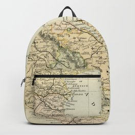 Retro & Vintage Map of Northern Italy Backpack