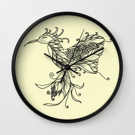 Kolibri Lineart Cream Wall Clock