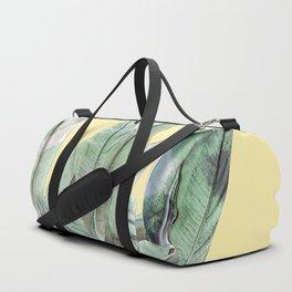 Bananas Leaves in Yellow Duffle Bag