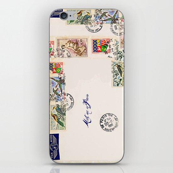 French Postage, meet me in Paris iPhone Skin