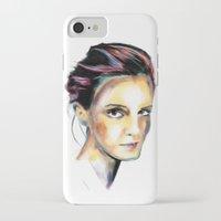 emma watson iPhone & iPod Cases featuring Emma Watson by caffeboy