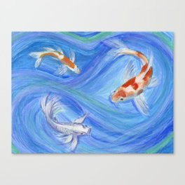 Swimming Koi Canvas Print