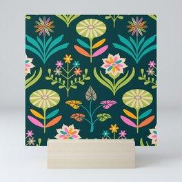 TAMI MOD FLORAL PATTERN in Bright Colours Mini Art Print