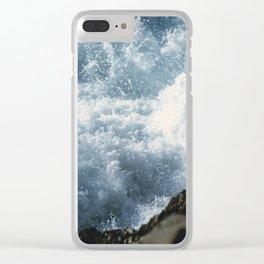 Turbulent Sea Clear iPhone Case