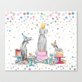 PARTY WEIMS Canvas Print