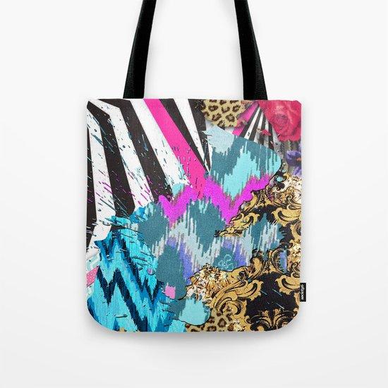 Fashion | Chic aztec pink teal zebra stripes leopard pattern Tote Bag