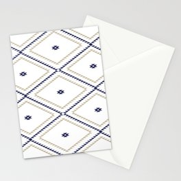Navajo Pattern - Tan / Navy / White Stationery Cards