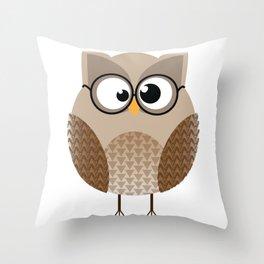 OWL KNOWS EVERYTHING Throw Pillow