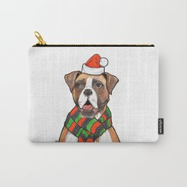 Dog with Christmas Hat Carry-All Pouch