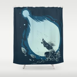 Goku's Kamehameha Shower Curtain