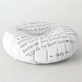"""""""To laugh often and much;"""" Ralph Waldo Emerson quote Floor Pillow"""