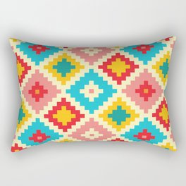 Candy Colored Tile Pattern Rectangular Pillow