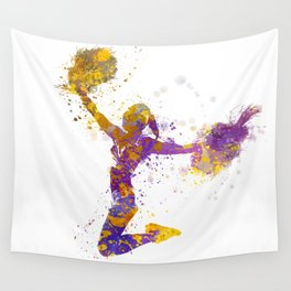 young woman cheerleader 03 Wall Tapestry