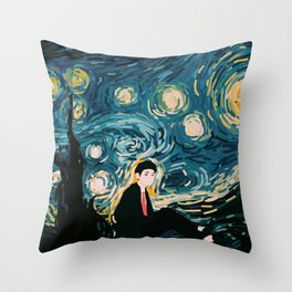Taehyung Starry Night Throw Pillow