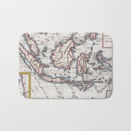 Vintage Map of Indonesia (1780) Bath Mat