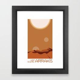 Visit Scenic Arrakis - Ultra-clean, Minimal Travel Poster  Framed Art Print