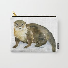 River Otter Watercolor Carry-All Pouch