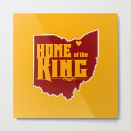 Home of the King (Yellow) Metal Print