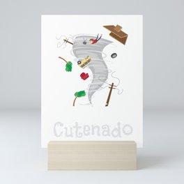 Funny Cutenado Cute Tornado Mini Art Print