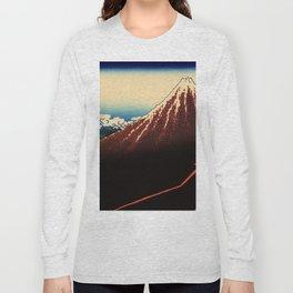"Hokusai (1760–1849) ""Rainstorm Beneath the Summit"" Long Sleeve T-shirt"