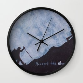 Accept the slope Wall Clock