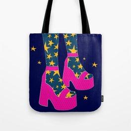 Boogie Wonderland // Pink, Fun, Shoes, Stars, Girly Tote Bag