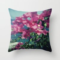 greece Throw Pillows featuring Greece by Kristoffer Gold
