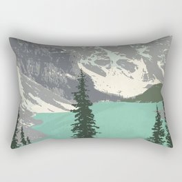 Moraine Lake Poster Rectangular Pillow