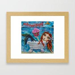 Cupcake Mermaid Framed Art Print