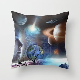 Extraterrestrial Civilizations  Throw Pillow