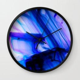 Vivid Electric Violet Line Art Wall Clock