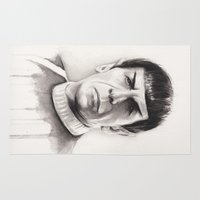 spock Area & Throw Rugs featuring Spock by Olechka