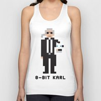 karl lagerfeld Tank Tops featuring 8 Bit Karl by 8 Bit Icons