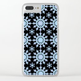 Snowflake Medallion Pattern 1 Midnight Version Clear iPhone Case