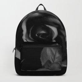 Black Rose on Black Floral Decor A221 Backpack